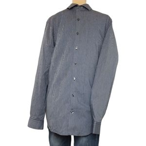 Kenneth Cole Reaction Button Down Striped Shirt